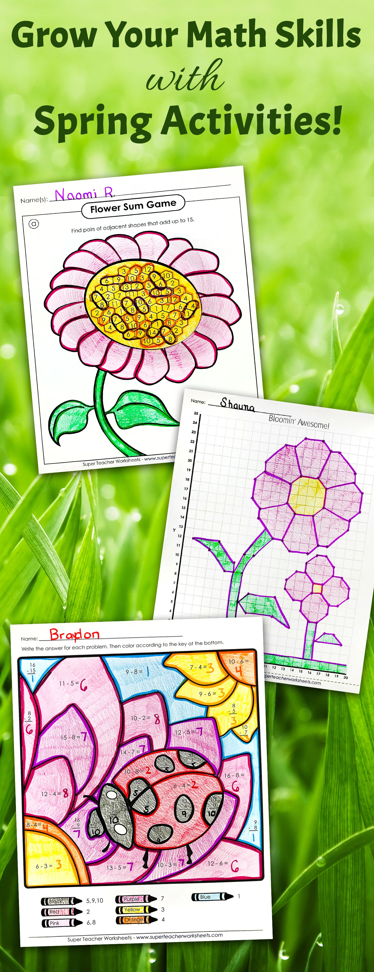 Check Out The Superteacherworksheets Spring Page For
