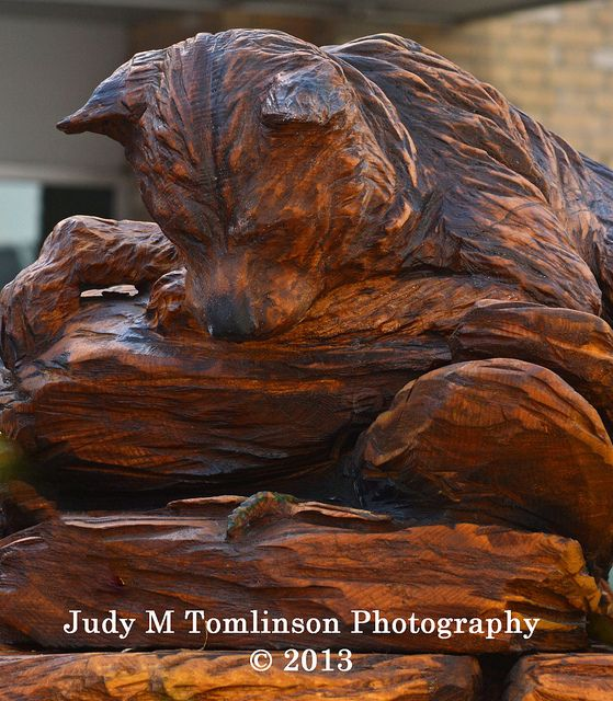 Baby bear wood carving bears and woods