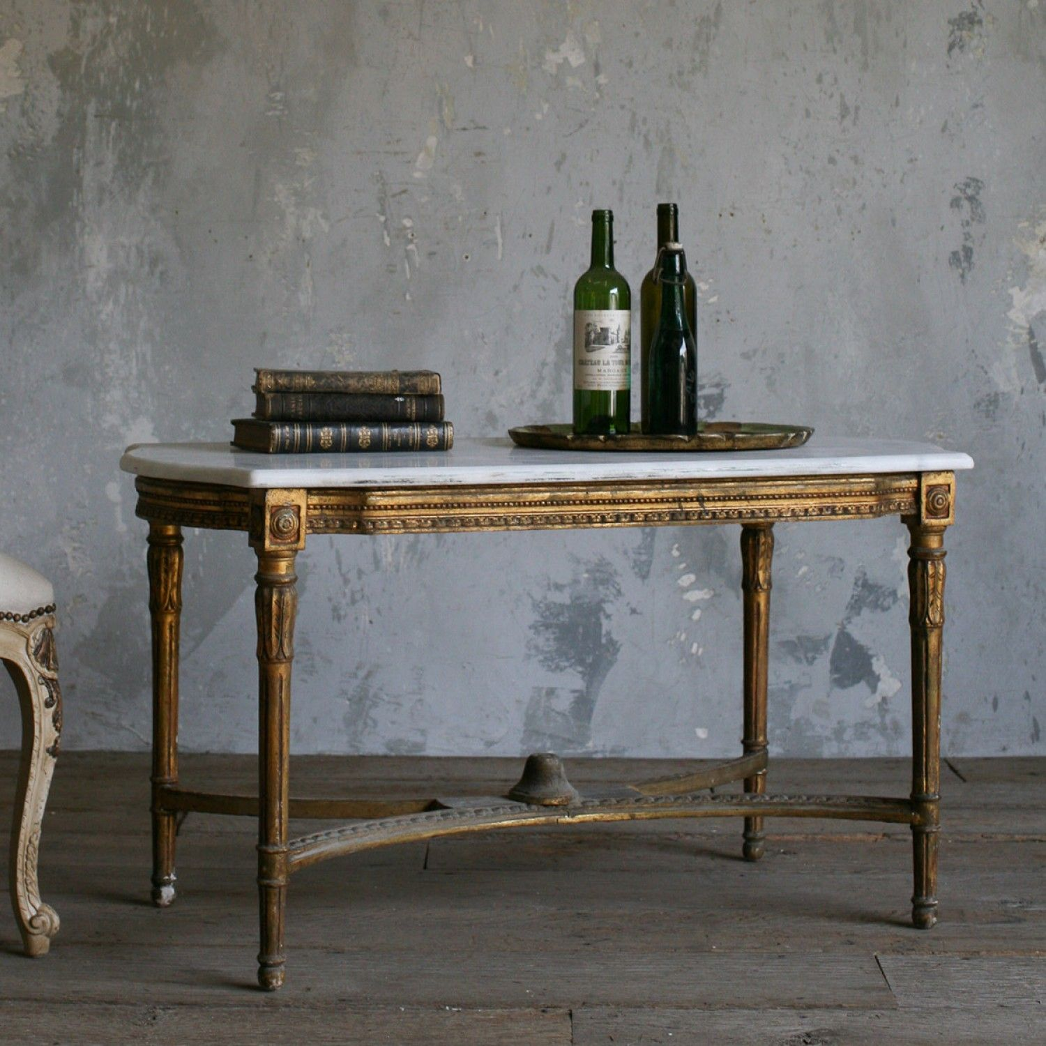 Vintage Louis XVI Style Coffee Table in Gold $1 095 00