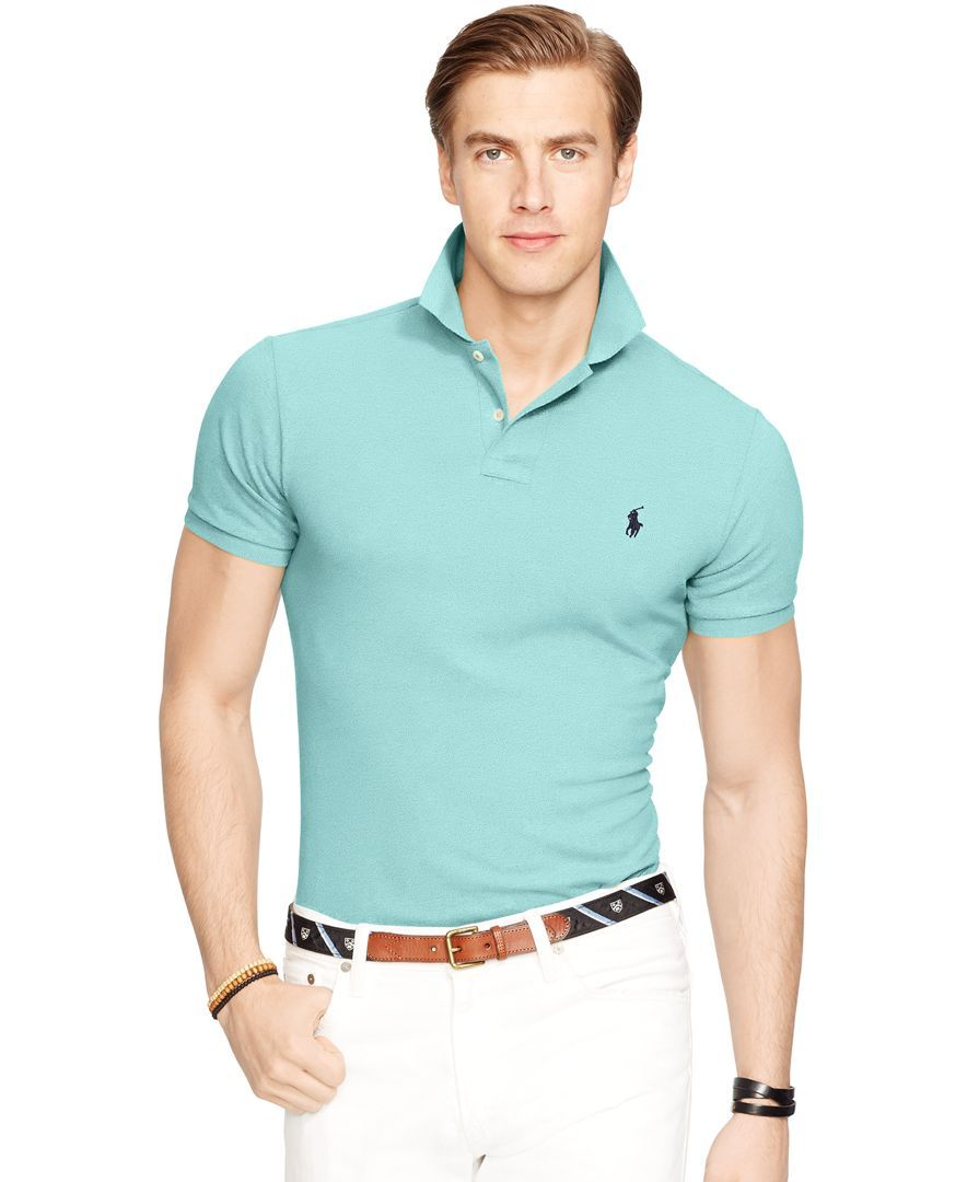 Polo Ralph Lauren Men's Slim-Fit Mesh Polo Shirt - Polos - Men - Macy's