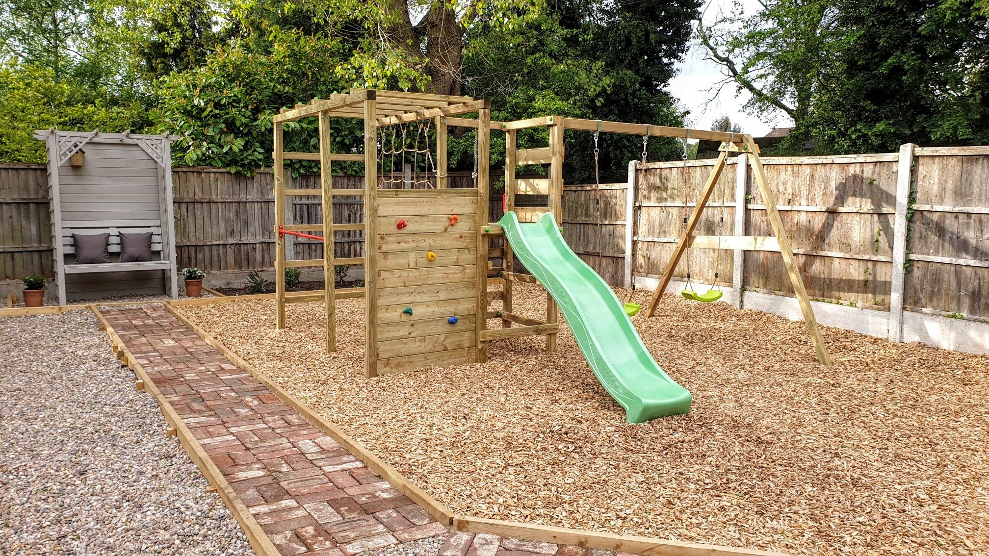 Barked Play Area Outdoor Kids Play Area Play Area Garden Kids Play Area