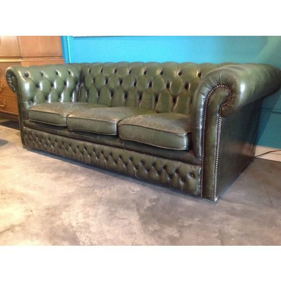 1920's English Chesterfield Sofa #huntersalley
