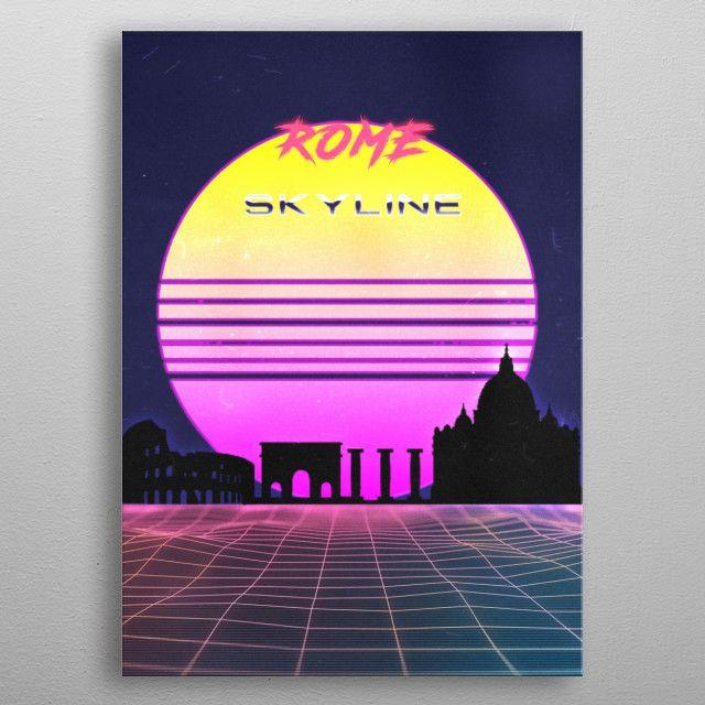 ROME by FARKI15 DESIGN | metal posters - Displate | Displate thumbnail