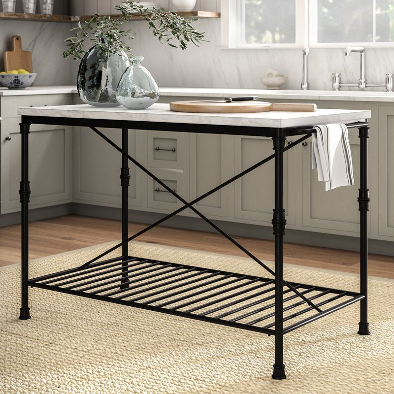 Castille Prep Table With Marble Top Furniture Kitchen Marble Best Kitchen Designs