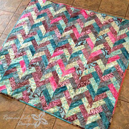 ReannaLily Designs Batik Braid Quilt Tutorial