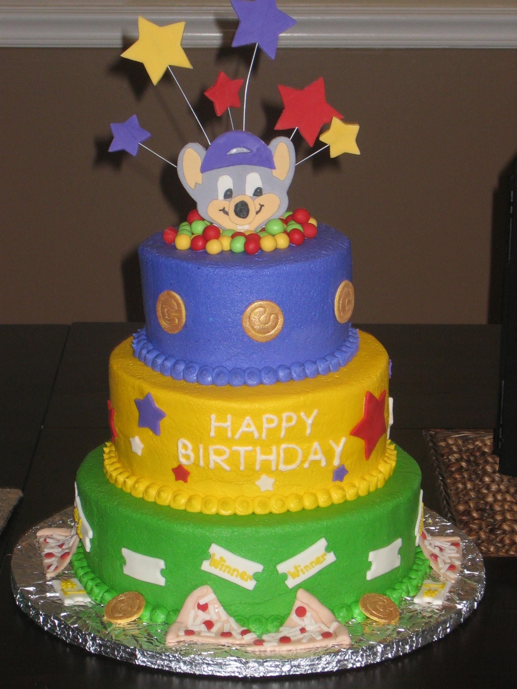 Chuck E Cheese Cake With Images Chuck E Cheese Cake Chuck E