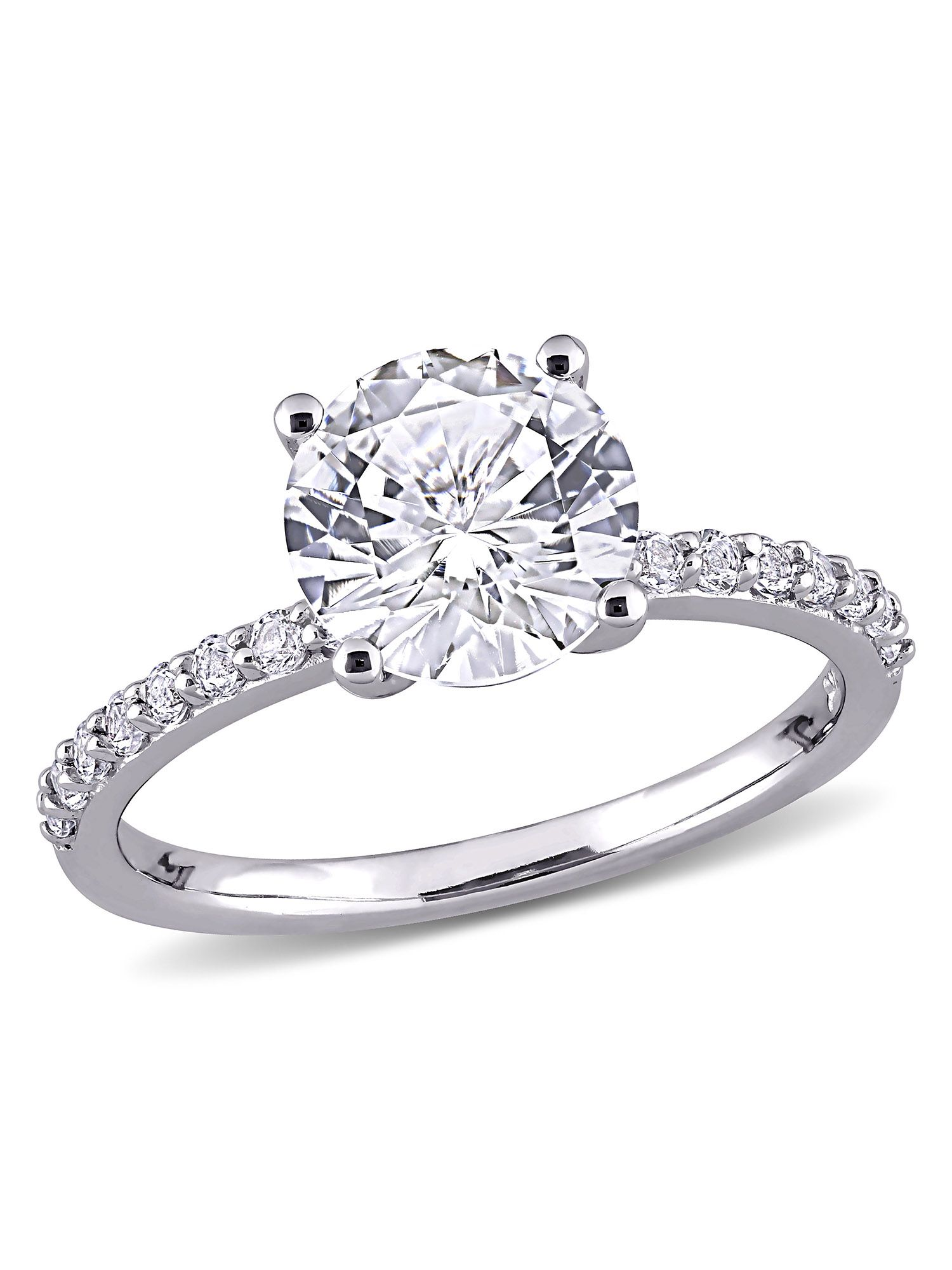 Miabella 2 3 4 Carat T G W Created White Sapphire 10k White Gold Engagement Ring Walmart Com In 2020 White Sapphire Engagement Ring Gemstone Engagement Rings White Gold Engagement Rings