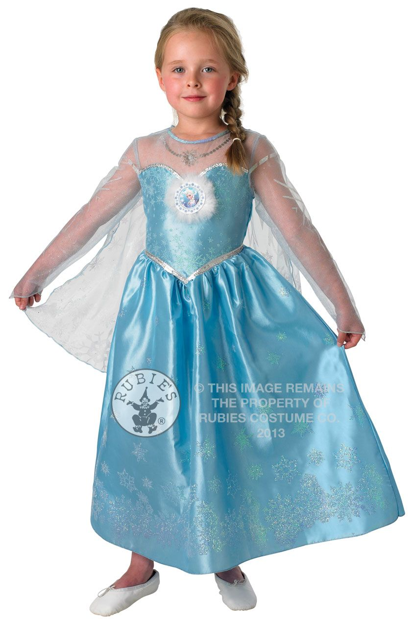 0340c733ef2a9 Deluxe Frozen Elsa Dress Girls Fancy Dress Disney Princess Kids Costume  Outfit | eBay
