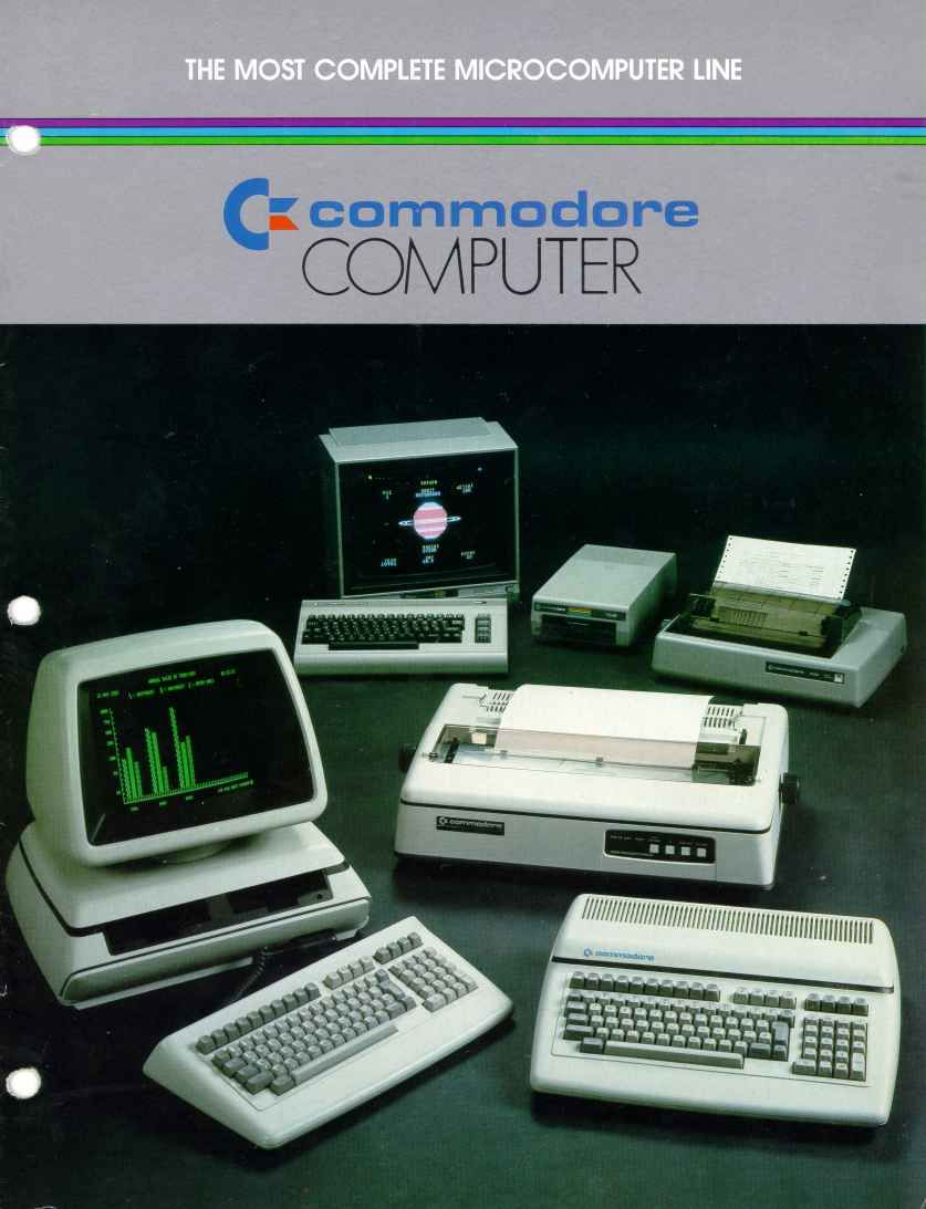 Commodore computers and peripherals from the 1980s