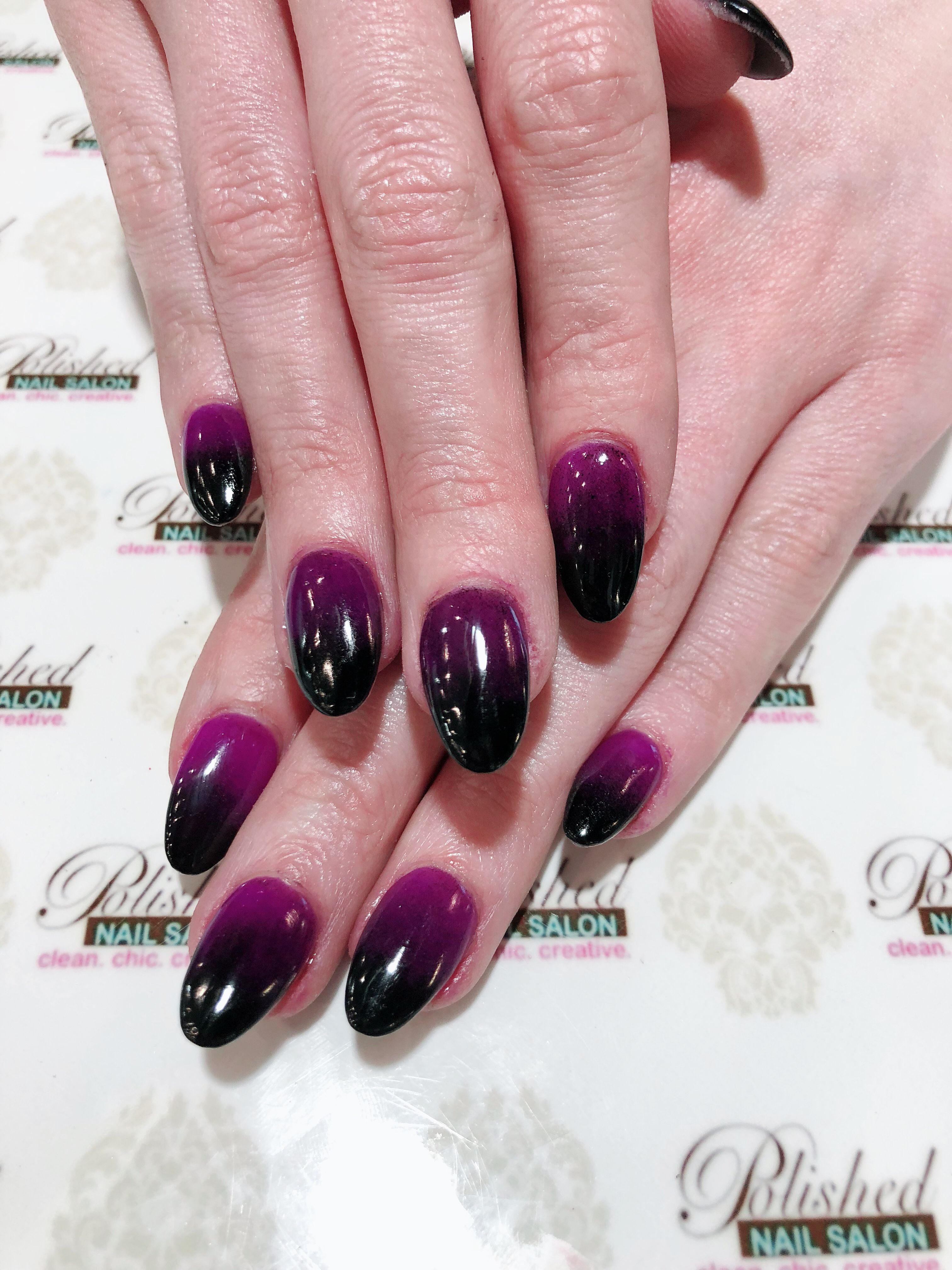 Purple And Black Ombre Dipping Powder Swag Nails Nails Best Nail Salon