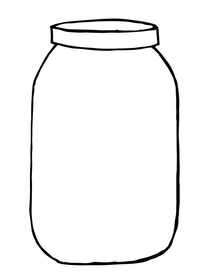Free Mason Jar Tempplates An Ink Drawing Of A Mason Jar Clipart