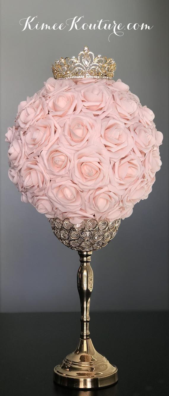 GOLD CROWN Centerpiece. Princess Wedding Centerpiece. TIARA Birthday Party. Princess Birthday. Bridal Shower. Sweet 16. Quincenerea #sweet16centerpieces