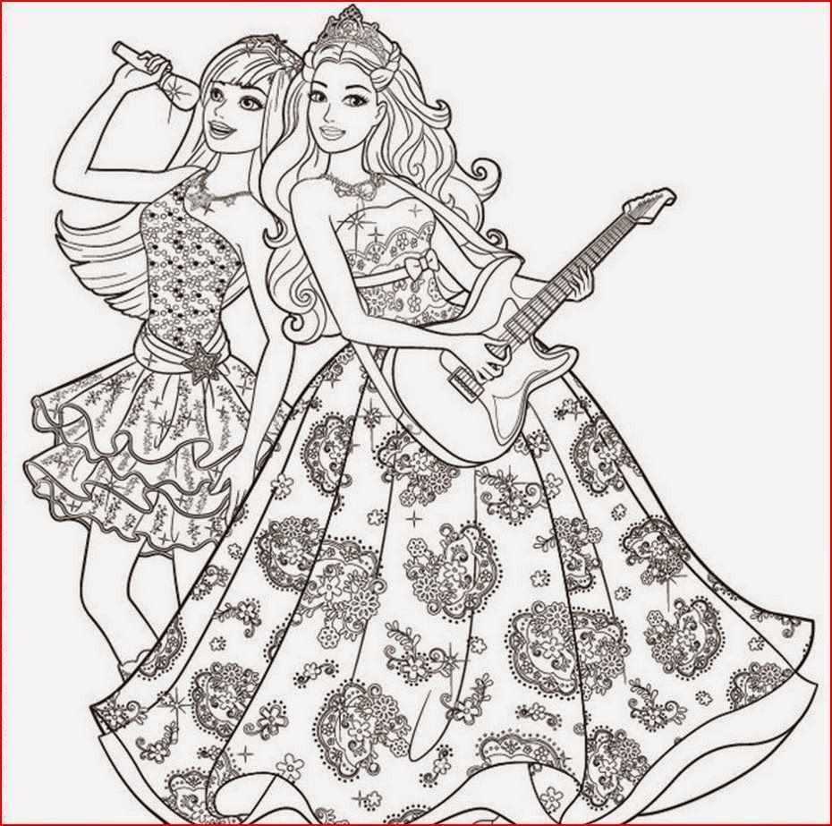 Image Result For Rock Star Barbie Coloring Pages Girls