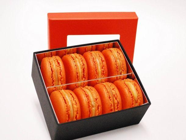 payard Pumpkin macarons