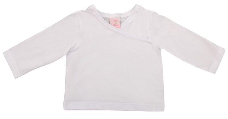 Blusa infantil masculina na cor branca confeccionado em algodão.