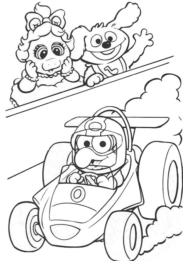Muppet Babies Watching Formula 1 Race Coloring Pages Bulk Color Muppet Babies Coloring Pages Muppets