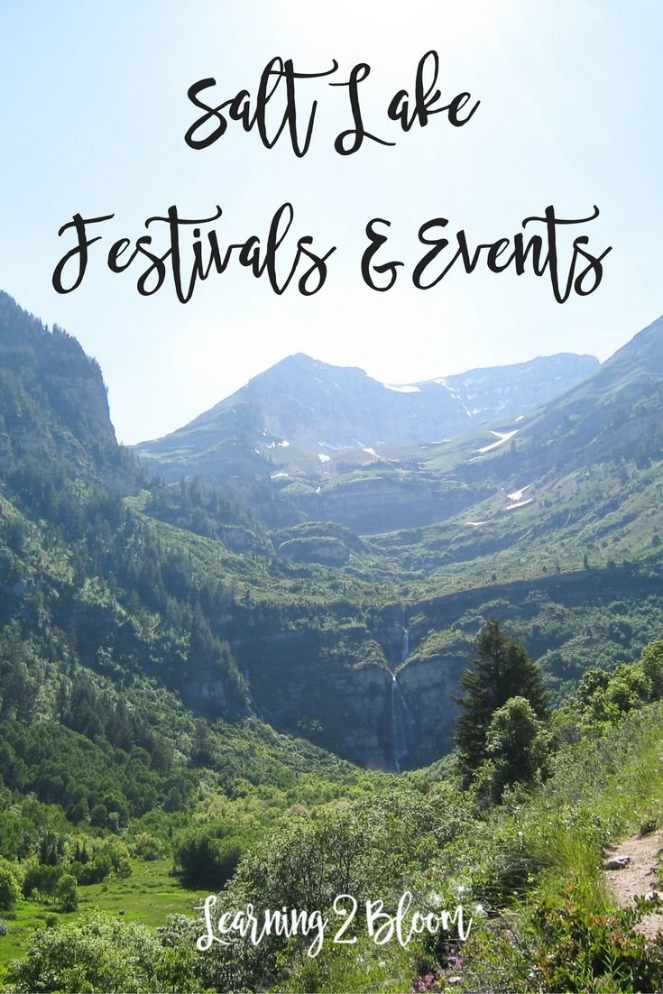 Utah festivals and events. Find activities, festivals, and events in the Salt Lake area. Spend time with your family and kids. Many events are inexpensive or free.
