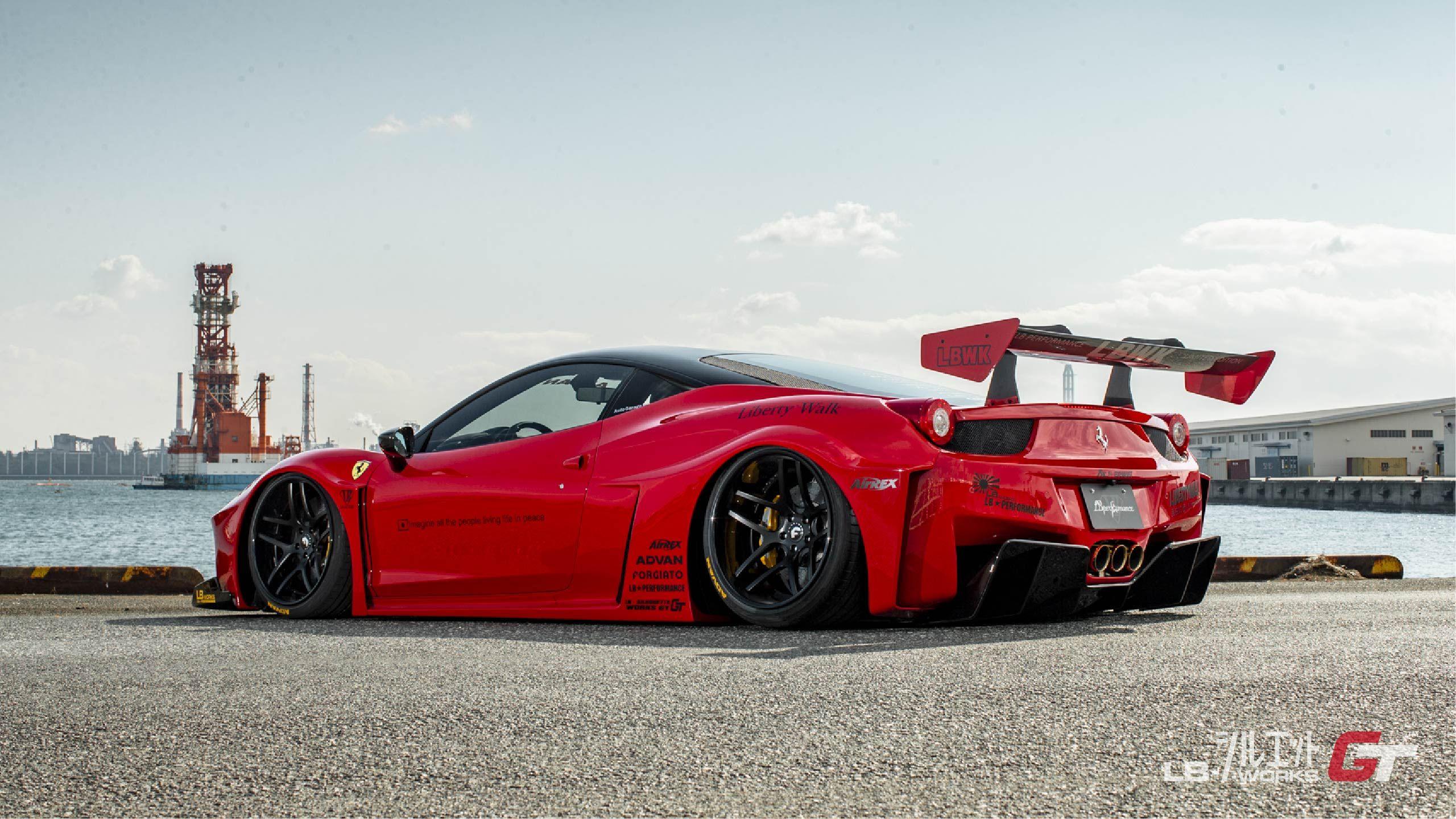 Ferrari 458 Spyder X Fi Exhaust X Liberty Walk X Pur Wheels With