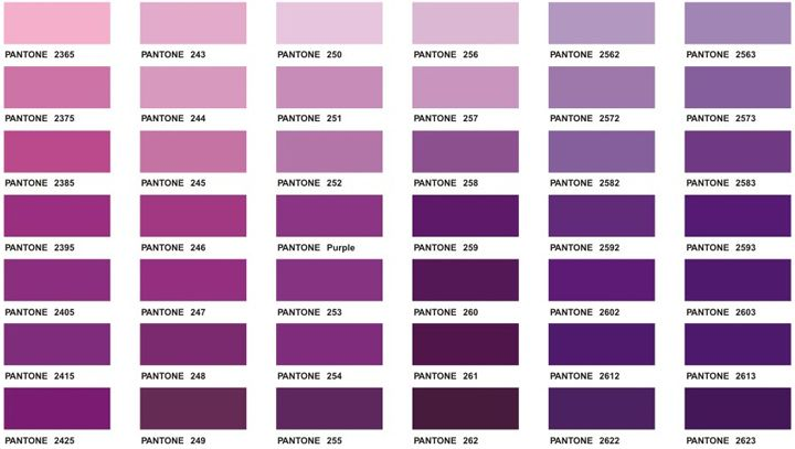 Shades of purple names chart download this color chart Color combinations numbers