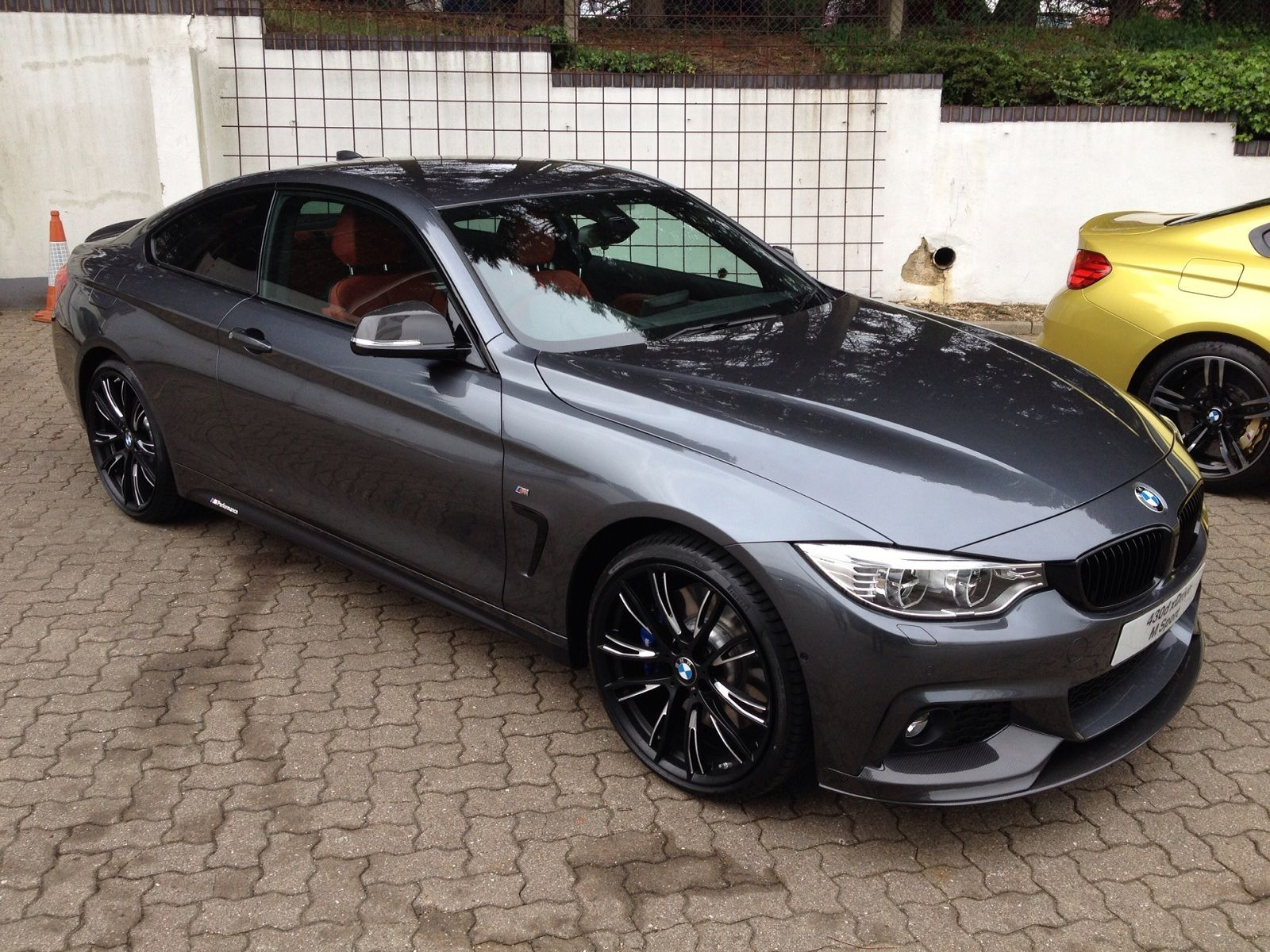 Bmw 4 Mineral Gray Red Leather Black Grill With Images Bmw
