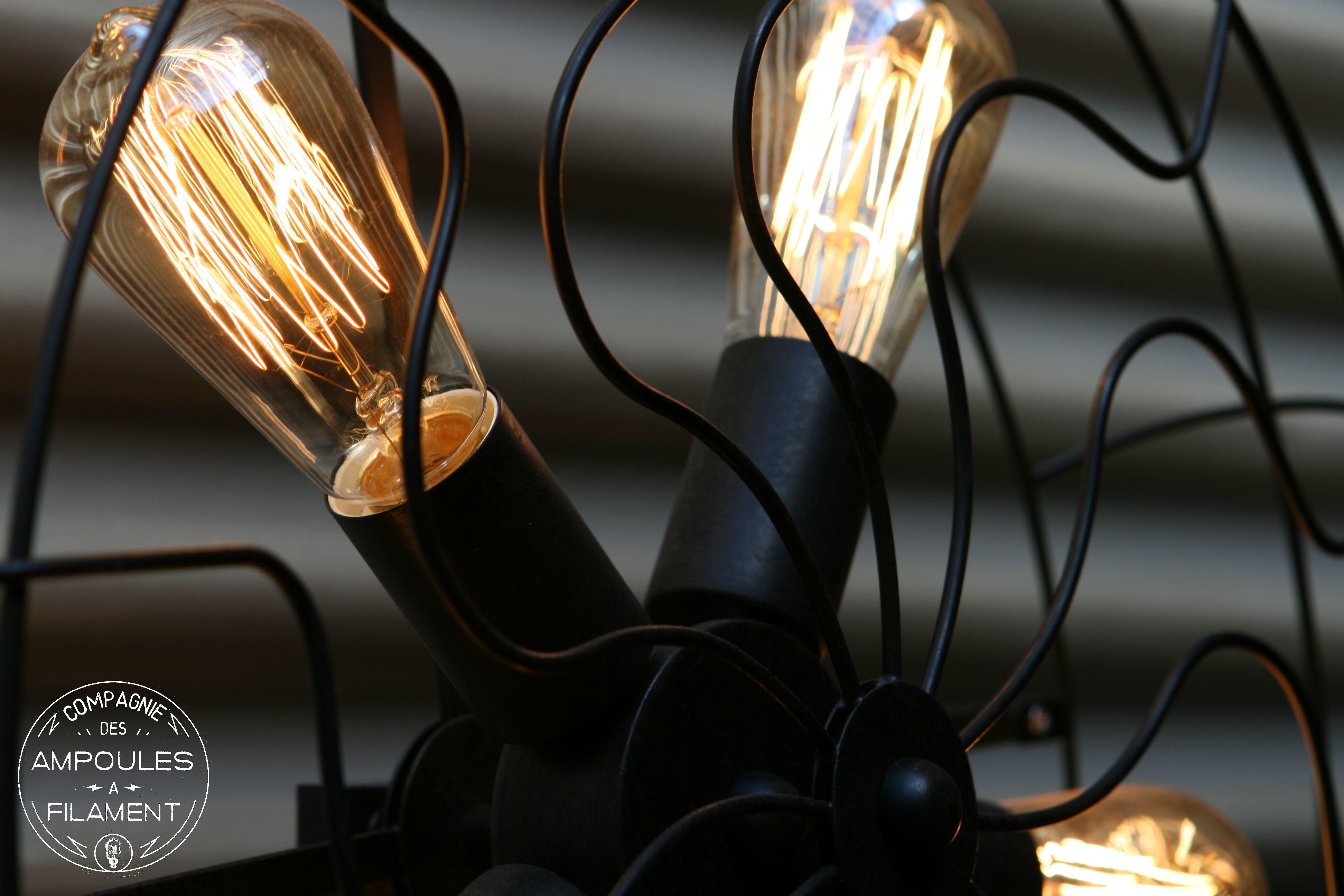 Luminaire Edison Ampoule Filament Vintage Retro Deco Design