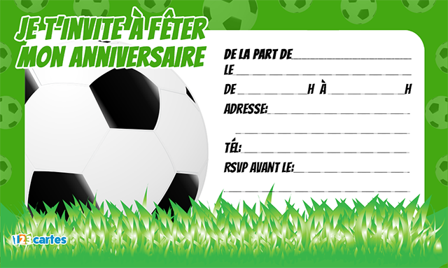 invitation anniversaire ballon football pour enfants t l charger gratuitement au format pdf. Black Bedroom Furniture Sets. Home Design Ideas