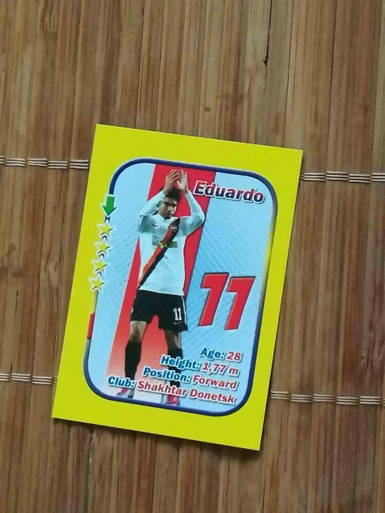 Rare Stars 3x1 Aquarius Small Size Card Eduardo Da Silva Shakhtar Arsenal Dinamo Shakhtardonetsk Star Cards Gnk Dinamo Zagreb Cards
