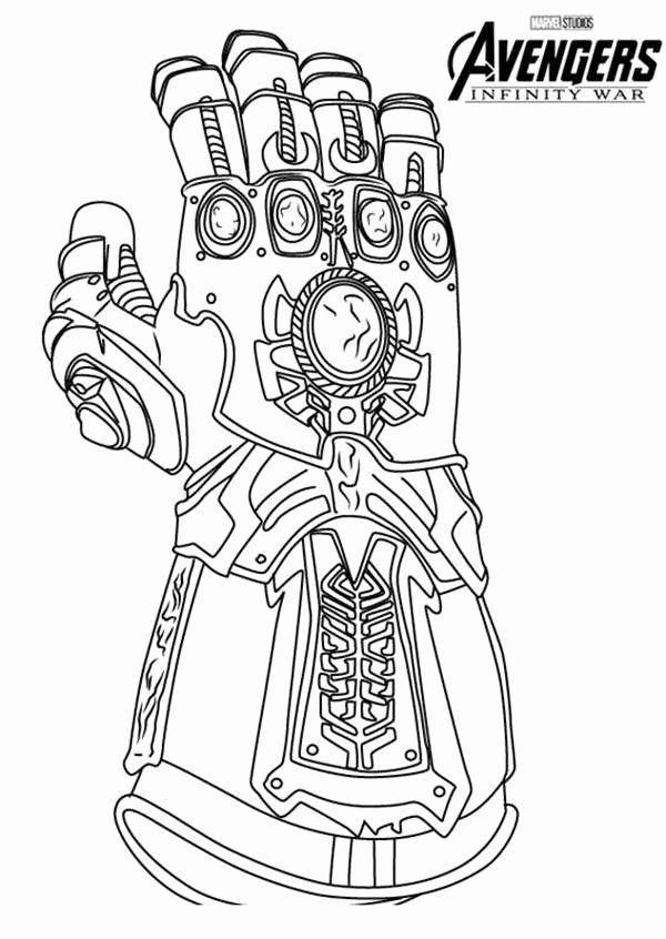 Infinity Gauntlet Coloring Page Awesome Awesome Infinity ...
