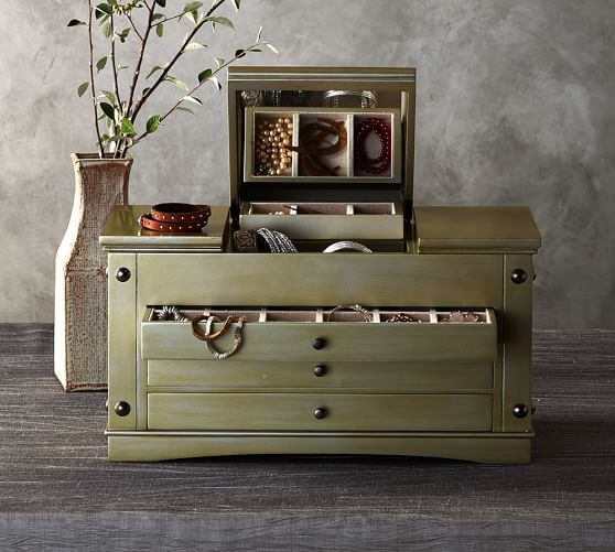 Ultimate Extra Large Jewelry Box Pottery Barn Large