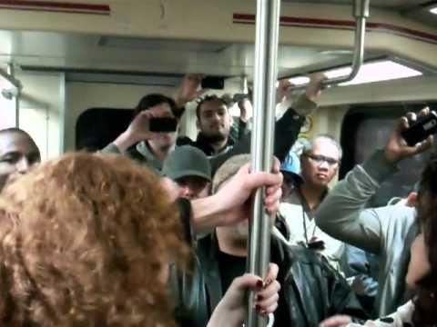 Los Angeles Subway Riders Sing How To Love Song