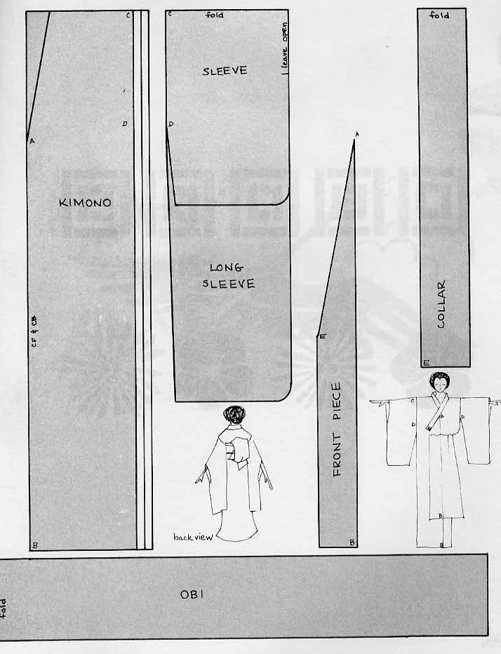 Cómo hacer un kimono 100% Japonés | Patronaje | Pinterest