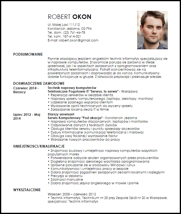 Zainteresowania W Curriculum Vitae Modelos de curriculum