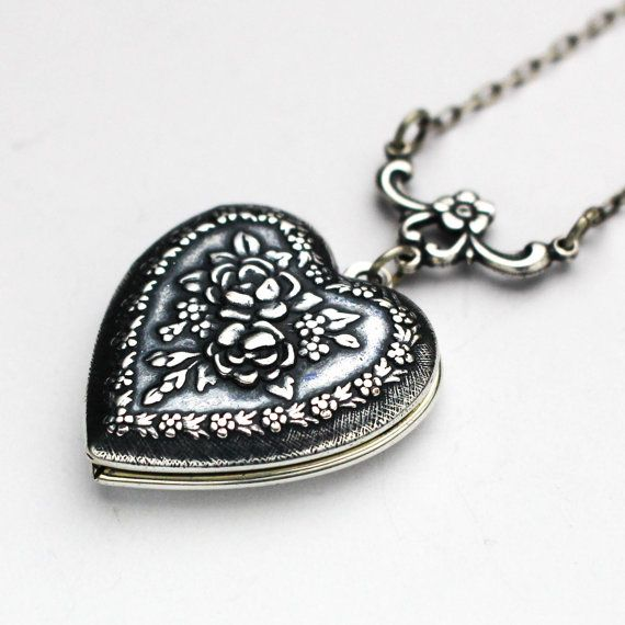 Heart Locket Necklace, Heart Shaped Lockets, Small Heart Necklace ...
