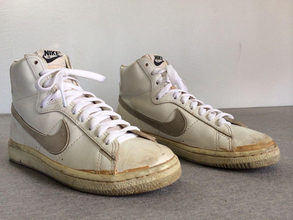 Mens Baskets Vintage Haut Daim Nike Blazer Des Années 60