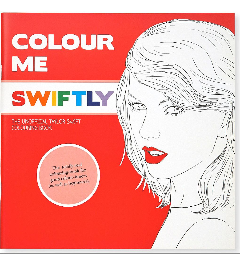 TURNAROUND Colour Me Swift Taylor Swift colouring book