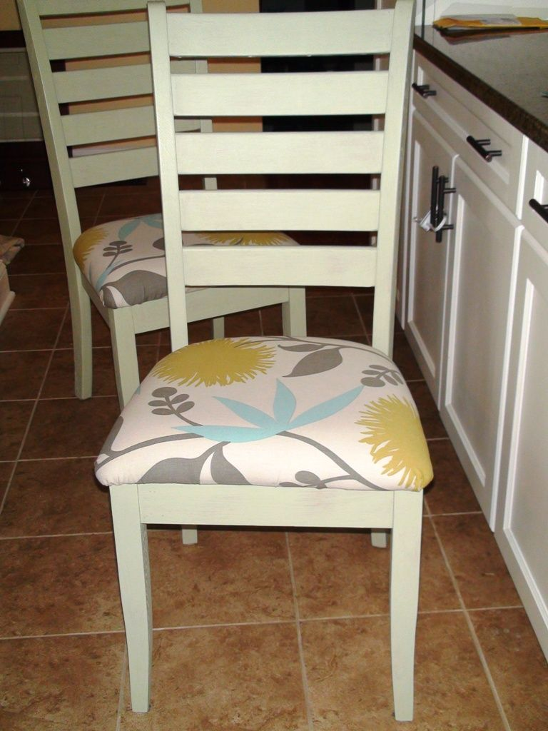 Reupholstered Kitchen Chairs | One Home Made | One Home Made