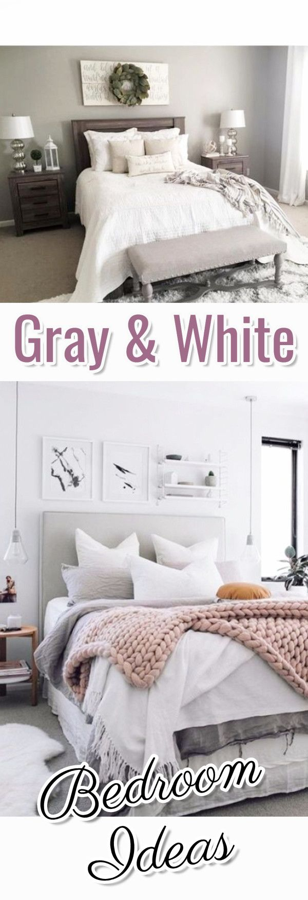 Bedroom Decorating Ideas and Inspiration #graybedroomwithpopofcolor