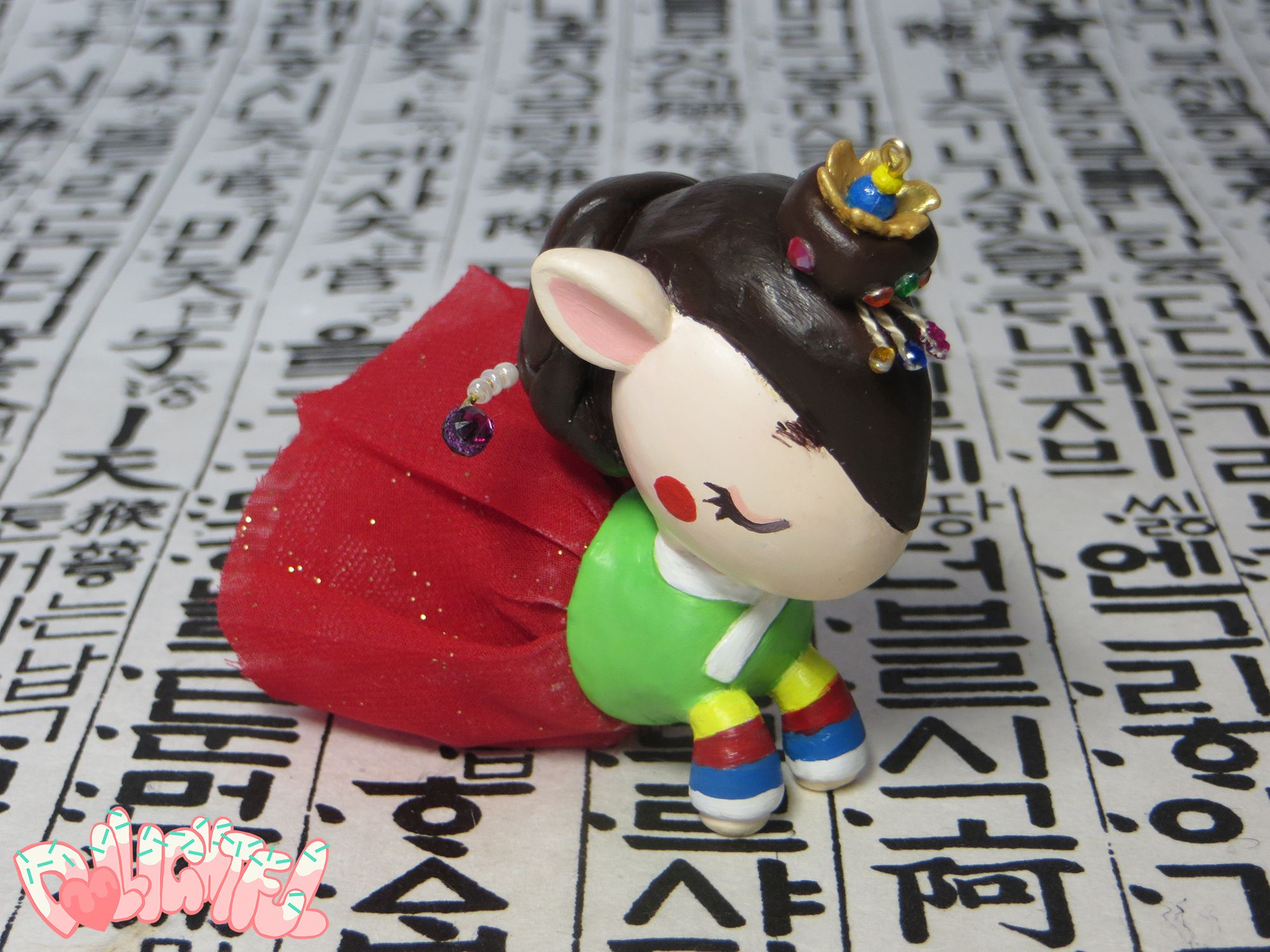 Unicorno Korean Bridal Hanbok 한국 작은 한복 유니콘 장난감 Custom Toy by Dollightful