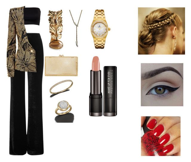 """""""Untitled #54"""" by stylesbymua on Polyvore featuring Emilio Pucci, Balmain, Giuseppe Zanotti, Charlotte Olympia, Bloomingdale's, Audemars Piguet and OPI"""