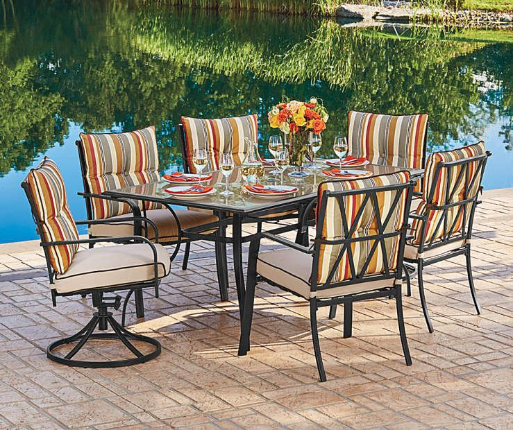 Wilson Fisher Westport Dining Set Big Lots Costco Patio Furniture Patio Furniture Makeover Affordable Outdoor Furniture