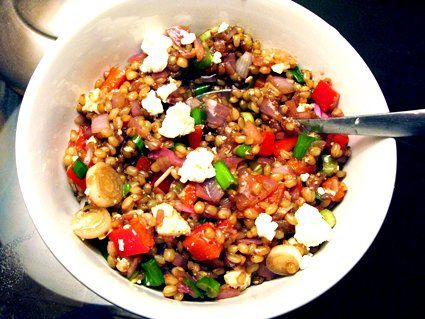 the barefoot contessa's wheat berry salad - wheat berries, sauteed