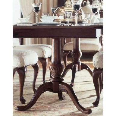 Kincaid Furniture, 60 007, Double Pedestal Dining Table Carriage House Dark  Cherry.