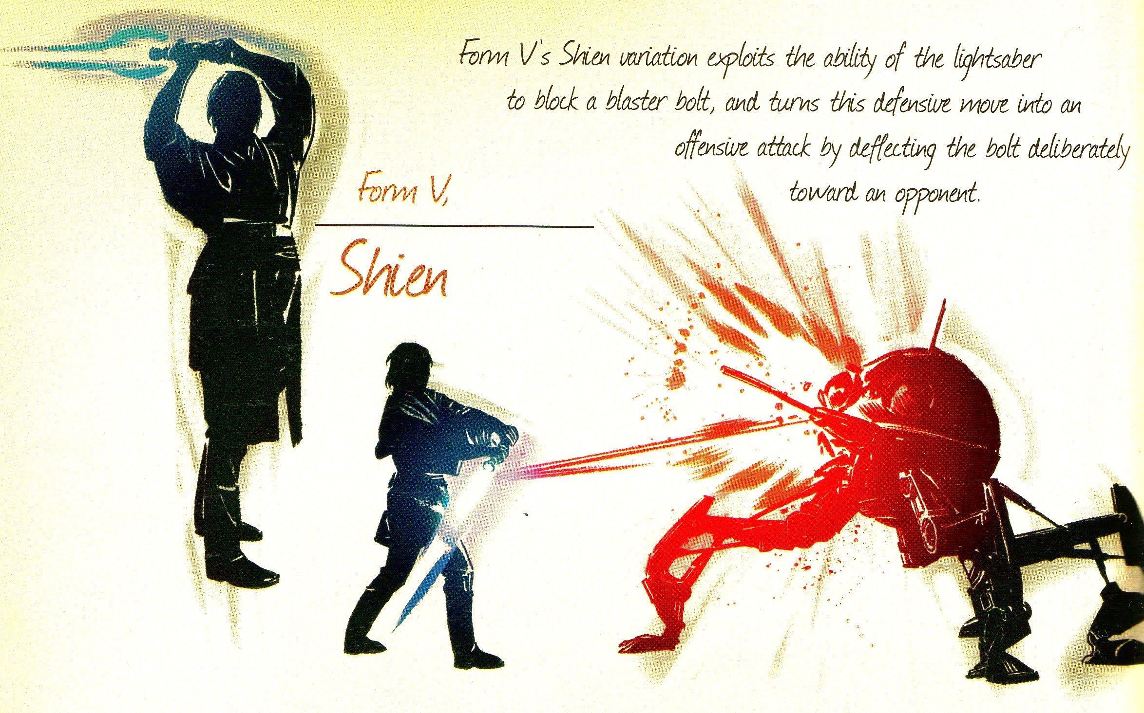 Form V: Shien - Description & Analysis   Star wars painting, Star wars  light saber, Star wars fan art