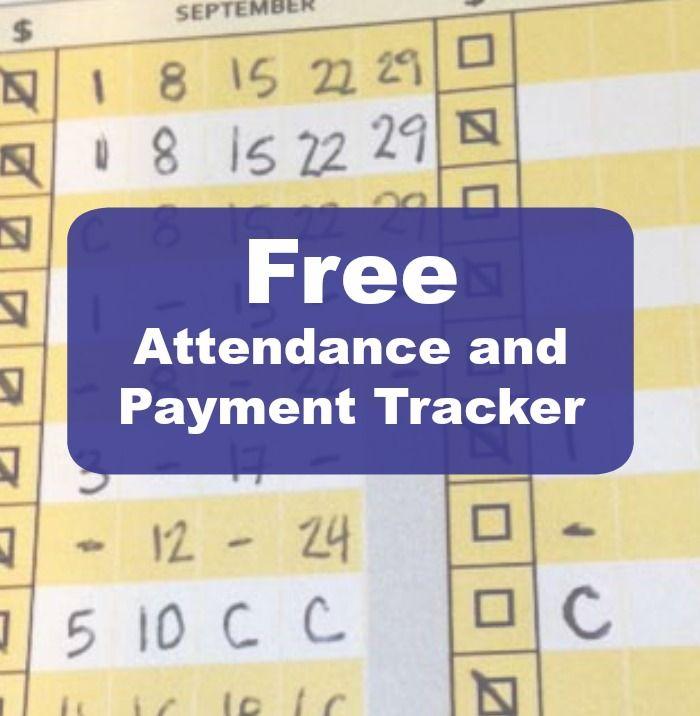 Lesson Attendance Sheet \ Payment Tracker for music teachers - attendance list