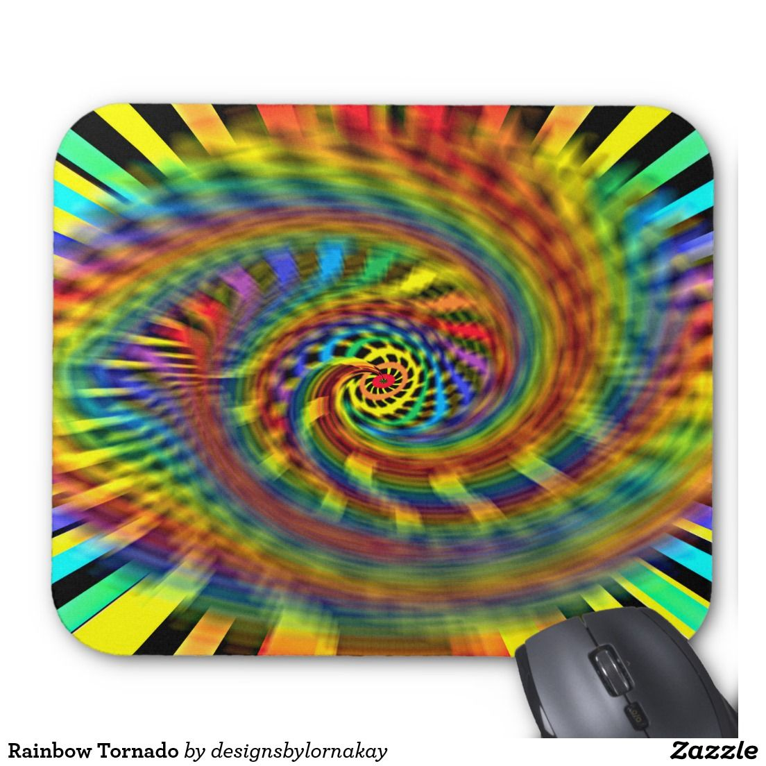 Rainbow Tornado Mouse Pad | Zazzle products designed by me | Pinterest