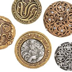 Edgar Berebi   Decorative Hardware Collection   Assorted Knobs   Wave  Plumbing