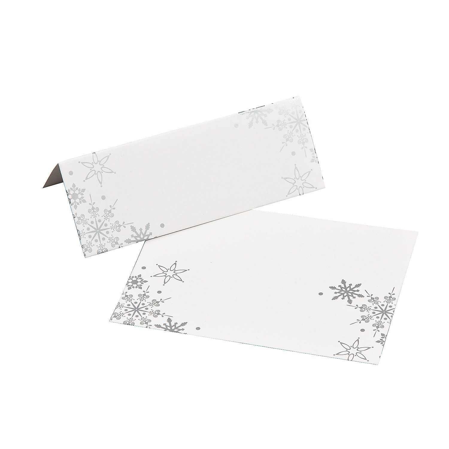 Snowflake Place Cards | Place cards, Cards and Winter onederland