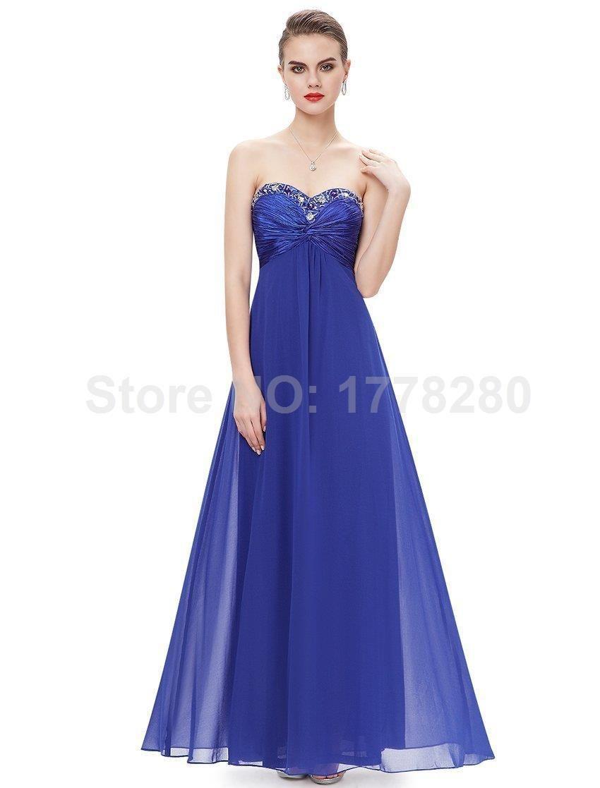 Excepcional Vestidos De Dama De Honor Azul De Medianoche ...