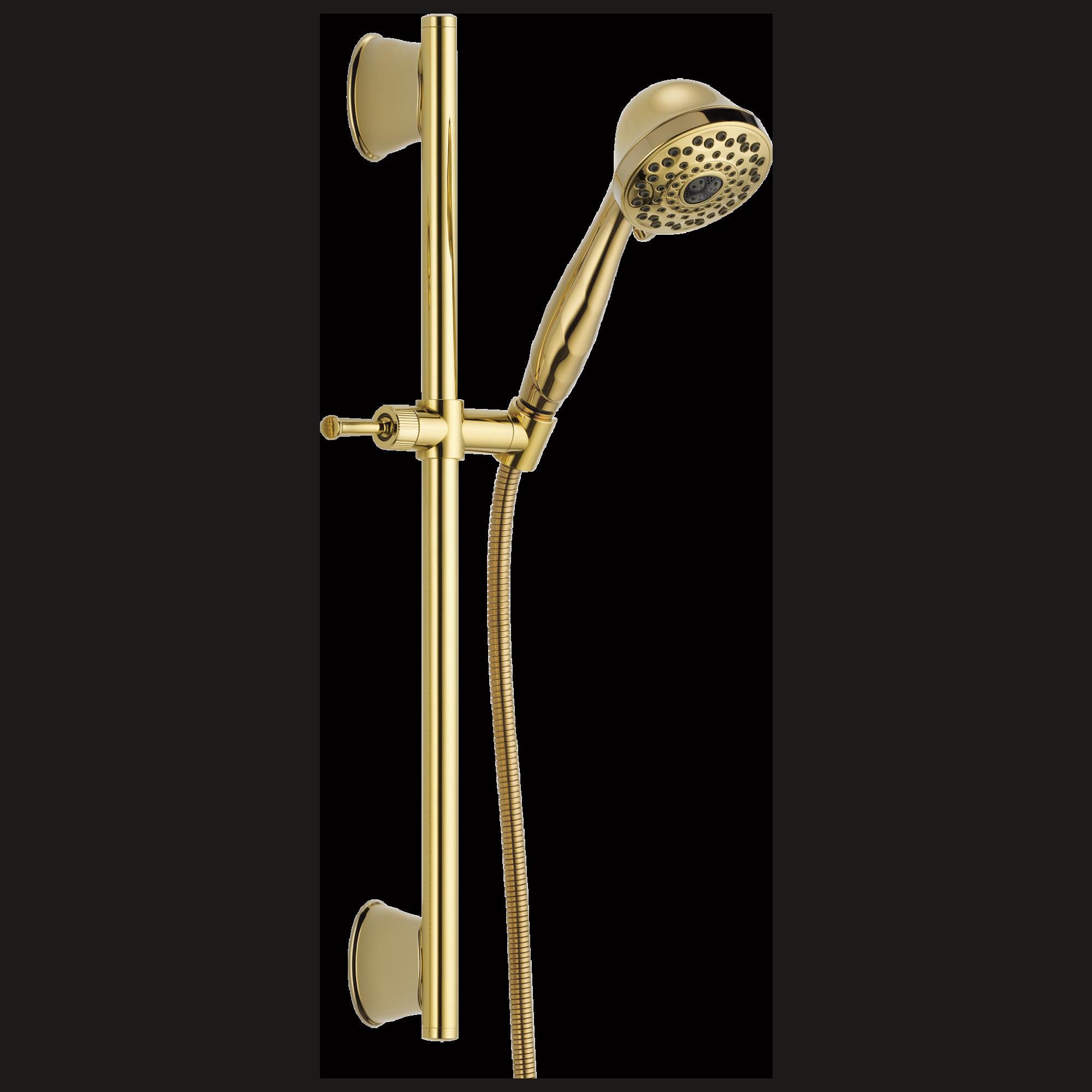 Delta Faucet 51589 Pb 7 Setting Slide Bar Hand Shower Polished