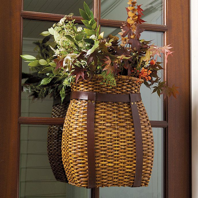 Front Door Baskets: Adirondack Hanging Basket In 2019